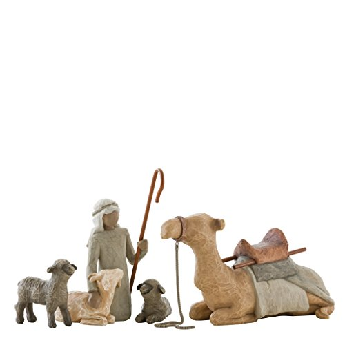 Willow Tree Shepherd and Stable Animals Figurine