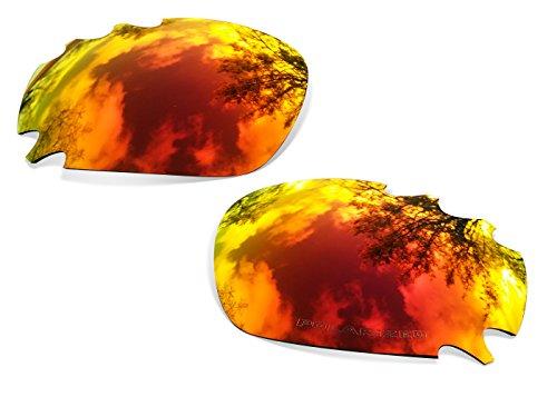 sunglasses restorer Kompatibel Ersatzgläser für Oakley Racing Jacket Vented, Polarisierte Fire Iridium Linsen