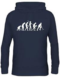 Shirtstreet, EVOLUTION EISHOCKEY, Sport Herren Kapuzen Sweatshirt - Pullover S-3XL