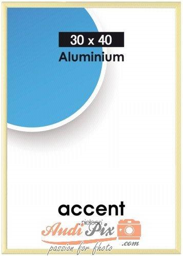Nielsen Design 860048 Wandrahmen Accent 30 x 40 cm, Aluminium, Gold