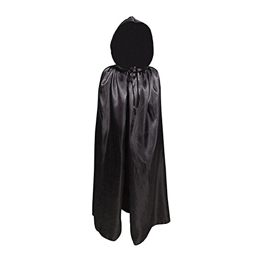 Labellevie Halloween Umhang für Kinder mit Kapuze Satin Cosplay Vampir Tod