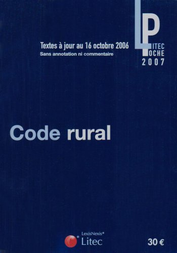 Code rural (ancienne édition)