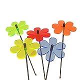 Suncatcher SONNENFÄNGER 5er Set 'Margarite' fluoreszierende Gartendeko   6cm Ø mit 25cm Stab   5 Farben   Mehr Farbe für Ihren Garten - das ganze Jahr!   Gartenstecker Geschenk, Farbe:alle 5 Farben