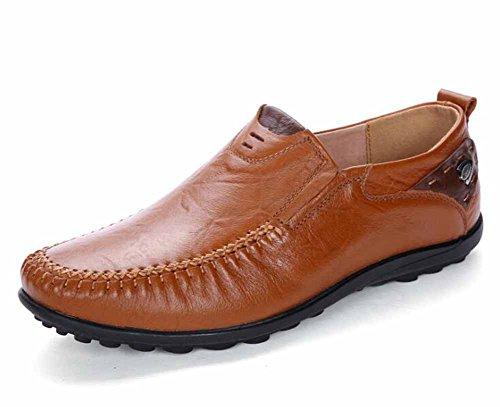 Uomini Traspirante Casuale Scarpe Loafer Autunno Morbido Pelle Piatto Scarpe ( Color : Black ) Brown