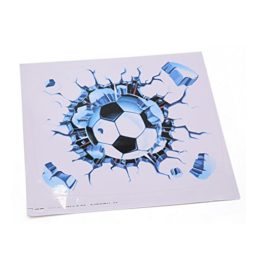 sourcingmap 1 Stück 21 x 20cm 3D Fußball Muster Auto Automobil dekorativer Abziehbild Aufkleber (- Fussball-fenster-abziehbild)