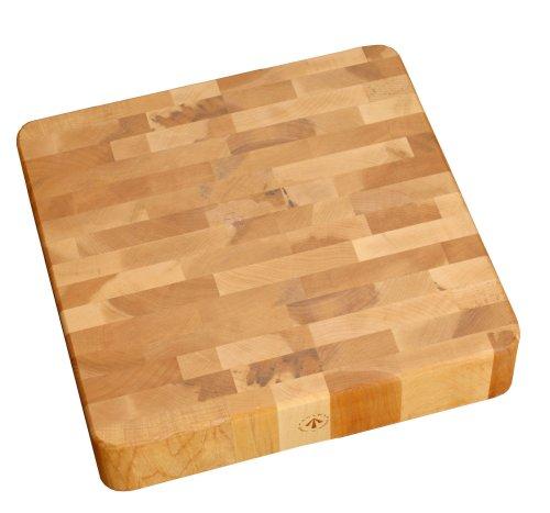 J.K. Adams 16-Inch Square End-Grain Cherry Chunk Cutting Board by J.K. Adams -