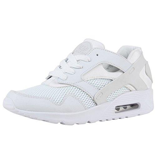 Damen Herren Unisex Laufschuhe Neon Runners Casual Schuhe Sportschuhe Weiss Brito