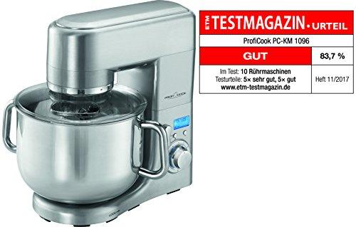 Profi Cook PC-KM 1096 Multi-Küchenmaschine, 10 L Edelstahlschüssel, massives Alu-Druckguss-Gehäuse, LCD-Display, 1500 - Multi Küchenmaschine