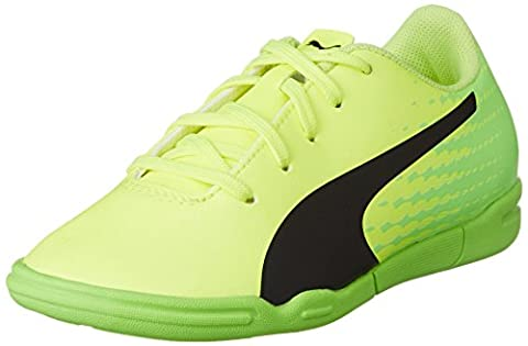 Puma Unisex-Kinder Evospeed 17.5 IT Jr Fußballschuhe, Gelb (Safety Yellow Black-Green Gecko 01), 30