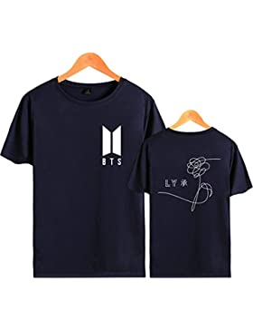 SIMYJOY Unisex Bangtanboys Fans Maglietta KPOP BTS T-Shirt loveyourself Her Cool Hip Pop Top Tee per Uomo Donna...