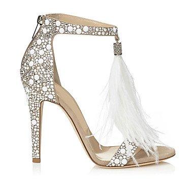 LvYuan Damen-Sandalen-Hochzeit Kleid Party & Festivität-Vlies-Stöckelabsatz-Andere-Weiß White
