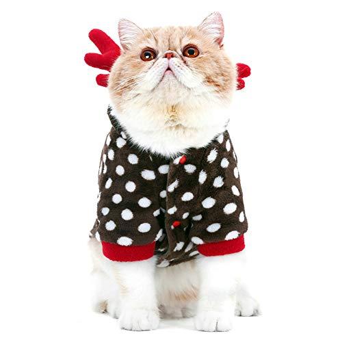 LCWYP Haustier Halloween Haustier Kostüme Katzen Kleidung Für Katzen Weihnachten Outfit Lustiges Kostüm Katze Welpe Halloween Kostüm Weiche Bequeme Katze Herbst Kleid (Katze Kostüm Outfit Ideen)