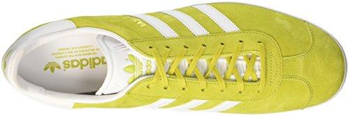 adidas Gazelle, Baskets Basses Mixte Adulte Jaune (Unity Lime/White/Gold Met)