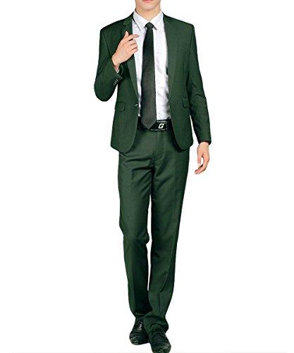 Herren Business Anzug 1-Knopf-Anzugjacke mit (Grüne Männer Anzüge Für)