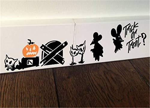 wandaufkleber baum schwarz Halloween Maus Süßes oder Saures