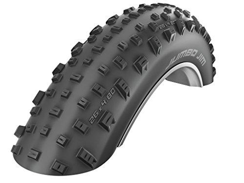 Schwalbe Fahrrad Reifen Jumbo Jim PSC // Alle Größen, Ausführung:schwarz. Faltreifen. tubeless Easy, Dimension:120-559 (26×4,80´´)