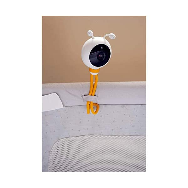 "Wisenet SEW3048 Video Baby Monitor 4.3"" with Eco Flex Fit Digital Camera. Mother&Baby Best Baby Monitor Gold Award 2019. LCD Wide Screen, Fast Video and Sound Response Wisenet Two-way communication enabled so you can talk to, soothe and relax your little one from anywhere in your home Crystal clear night vision allows you to keep an eye on your little one without any worry in crystal clear quality 7 bedtime music and white noises that will help to soothe your little one and keep them relaxed throughout the night 8"