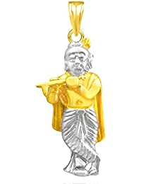 The Marketvilla 925 Sterling Silver Lord Jai Shri Krishna With Flute Locket In Bhagwan God Pendant Man & Women...
