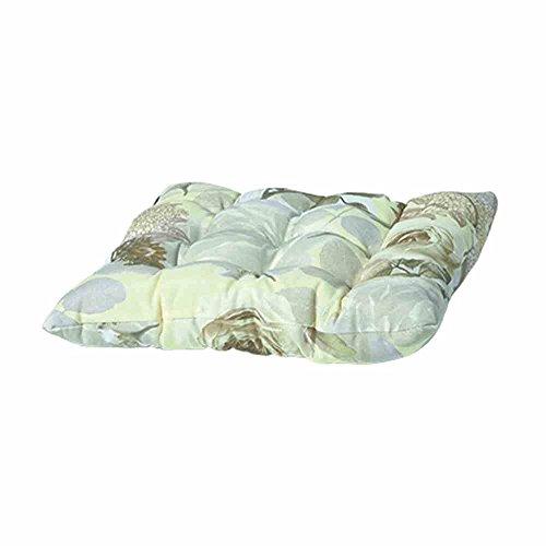 Madison 7TOSC-F075 Bistro Sitzkissen Rozen, 46 x 46 cm, Baumwolle / Polyester, Blumendesign in taupe