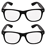 Criba Combo Pack Of 2 Wayfarer Unisex Sunglasses And Spectacle Frame(Adr 205|50|White)