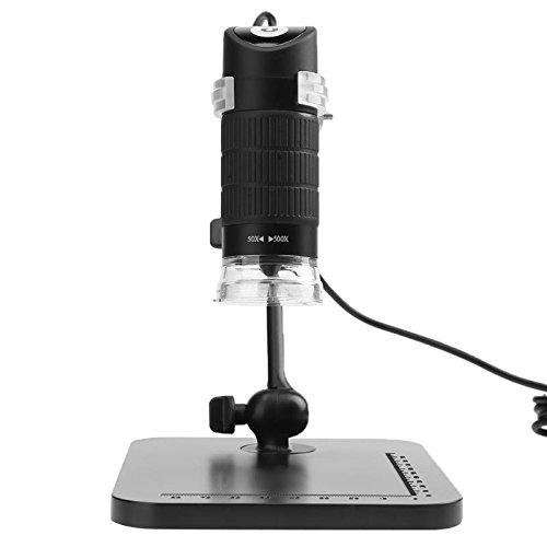 Veena 1000X : 360 Degree Rotation 50X-500X/800X/1000X Handheld Digital USB2.0 8 LED Electron Microscope Repairing Medical Magnifier + Bracket