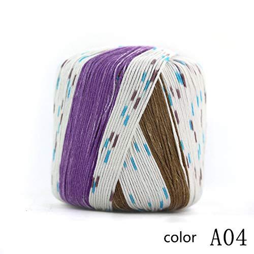 Xiaochou@sl 10 Ball Set 12 Farbe wählbar, Garn Stricken 1 Ball 40 g 1/2,8 NM (Color : A01, UnitCount : 10 Balls) -