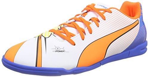 Puma Evopower 4.2 Pop It, Chaussures de football homme Blanc - Weiß (white-orange clown fish-electric blue lemonade 01)