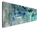 Paul Sinus Art Abstrakte Kunst 180x50cm - 2 Wandbilder je 50x90cm - Kunstdrucke - Wandbild - Leinwandbilder fertig auf Rahmen
