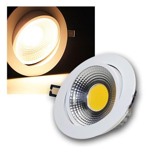 3ER SET LED EMPOTRABLE BLANCO 10 W 600 LM LUZ BLANCA CALIDA