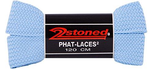 Original 2stoned Phat Laces Schnürsenkel 120cm lang und 3cm breit in 14 Farben Blau