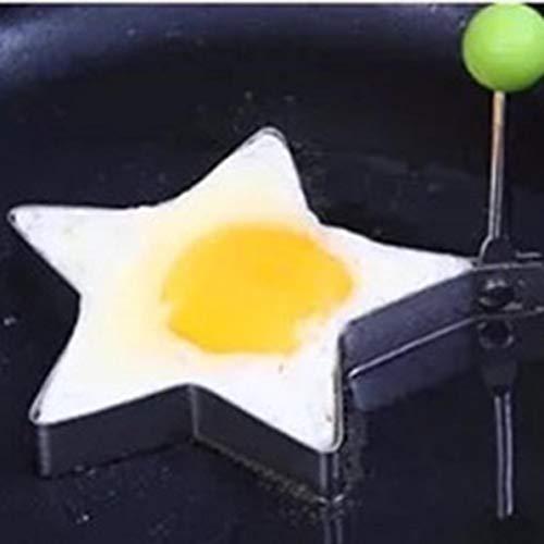 WEIWEITOE Edelstahl Form Zum Braten Eier Werkzeuge Frühstück Omelett Form Gerät Pfannkuchen Ring Eiförmigen Küche Werkzeug Pentagramm, (Star Pfannkuchen Formen)