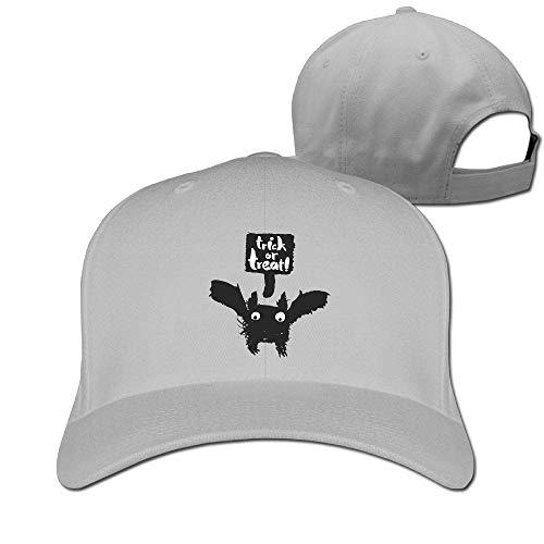 Classic Cotton Hat Adjustable Plain Cap, Halloween Bat Plain Baseball Cap Adjustable Size Curved Visor Hat 596