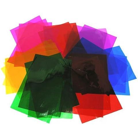 Fogli in pellicola trasparente,192 fogli A4 con colori assortiti,per effetti colorati su vetrate,biglietti e decorazioni finestre - Foglia Maker