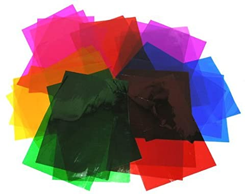 Clear Wrap Sheets - 192 Sheets of A4 Assorted Coloured Clear Film - Ideal for Stained Glass Effects on Cards and Cut Outs Window Decorations