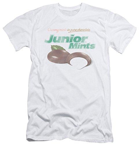 tootsie-roll-hombres-de-junior-mints-logo-slim-fit-t-shirt-blanco