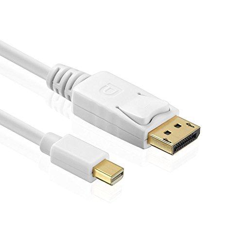 HDSupply X-DC030-015 DisplayPort mini auf DisplayPort Kabel, vergoldete Kontakte, 1,5m, weiß