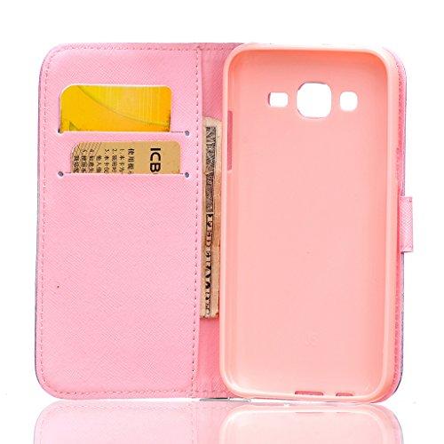 MOONBAY MALL Chic Wallet Case Classic Pour Apple iPhone SE / iPhone 5SE / iPhone 5E PU Cuir Étuis Flip Cover housse, Stylus et Film protecteur inclus. A29 A05