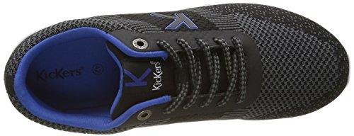 Kickers Knitwear, Baskets Basses Homme Noir (Noir Gris)