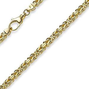 4mm Kette Halskette Königskette aus 585 Gold Gelbgold 60cm Herren Goldkette