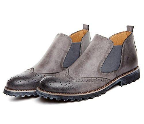 WZGchaussures de sport Les nouveaux hommes de haute aide marée chaussures respirantes mode tendance chaussures hommes sculptés ensemble paresseux pied gray
