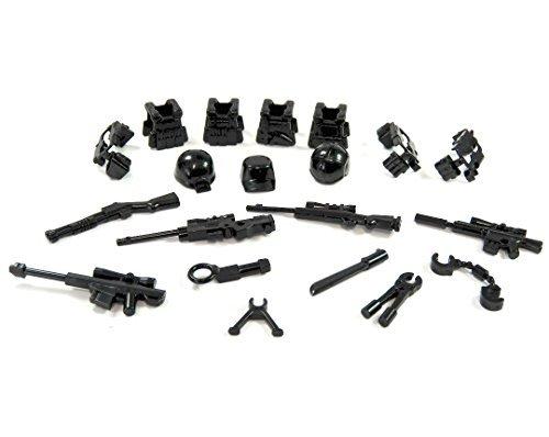 Modern Zubehör Set Waffen Helme und Waffengürtel für LEGO Figuren 20 (Star Soldaten Wars)