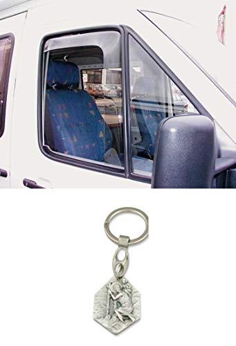 Zisa-Kombi Windabweiser Fahrer/Beifahrertür für Sprinter bis Bj. 06 (93298836417) mit Anhänger Hlg. Christophorus