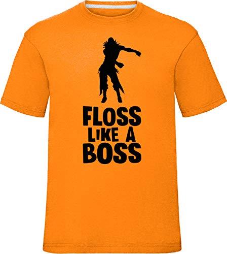 Kinder Floss wie EIN Boss Raven T-Shirt Orange 12-14 Jahre (Ps3 Royal Battle)