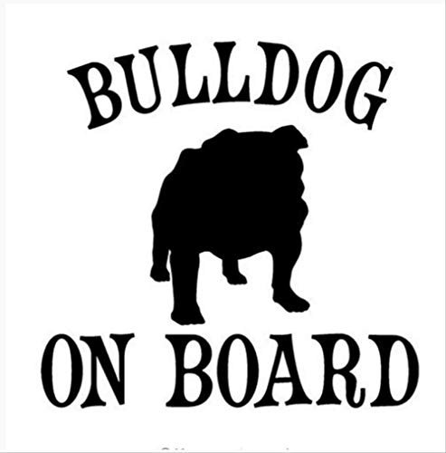 Etiqueta De La Pared La Talla Del Perro Bulldog Elimina