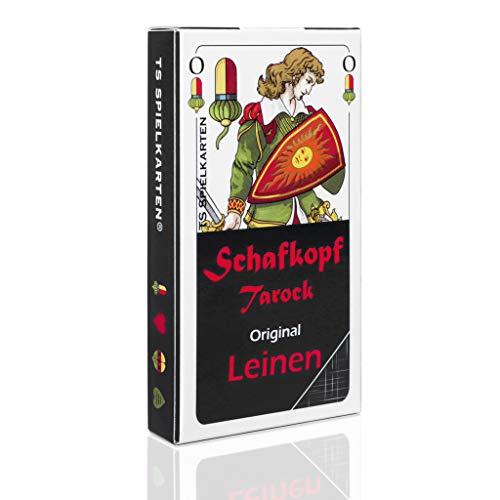 Schafkopf Karten Leinen bayrisch, abwischbar + langlebig, bayrisches Blatt Schafkopfkarten (Tarock + Binokel), Original TS Spielkarten (1x Spielkarten)