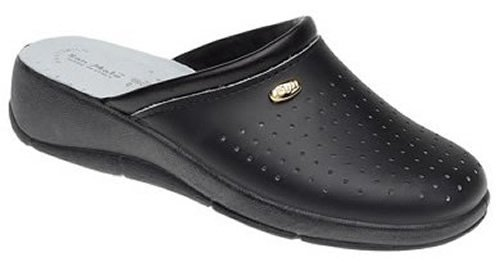 San Malo - Zuecos de Piel para mujer, color negro, talla 40 EU