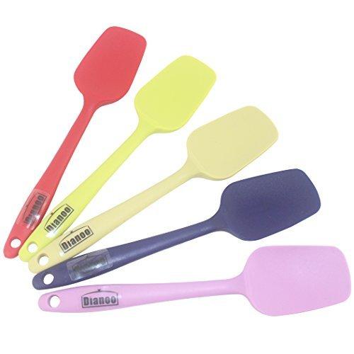 Dianoo 2PCS Hitze beständig Silikon Schaufel, kleinen Platz Küche Spachteln, Beste für nonstick Kochgeschirr, 8 Farben, 2PCS (die Farben werden zufällig gesendet werden)