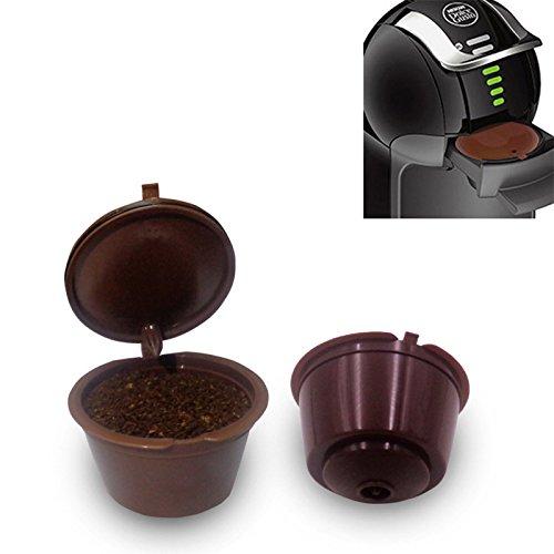 elegantstunning Kaffee Filter Nachfüllbarer Nestle Edelstahl Mesh wiederverwendbare