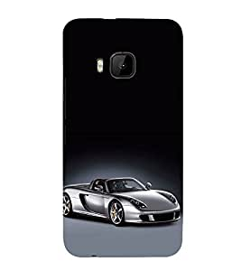 FUSON Silver Metalic Sports Car 3D Hard Polycarbonate Designer Back Case Cover for HTC One M9 :: HTC One M9S :: HTC M9