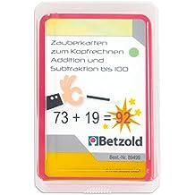 Betzold Zauberkarten zum Kopfrechnen - Addition und Subtraktion bis 100, Mathematik, Mathe, Rechenspiel, mit Zauberfolie und Selbstkontrolle